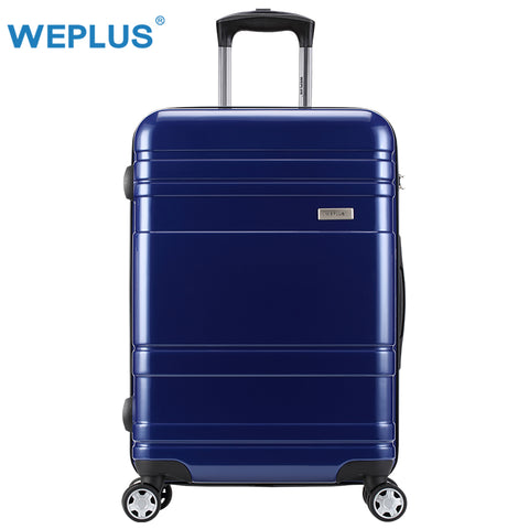 Weplus Pc Suitcase Lightweight Rolling Luggage Spinner Travel Suitcase With Wheels Tsa Lock Women