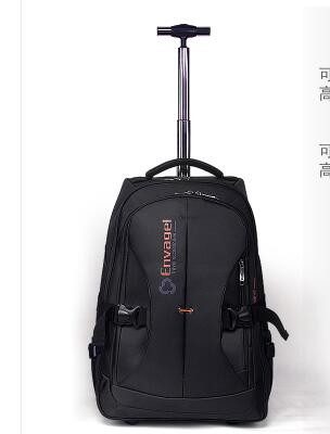 Oxford Rolling Backpack Women Trolley Backpack Bag Cabin Travel  Luggage Bag Men Wheeled Backpack