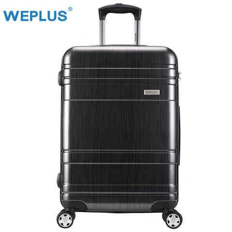 Weplus Pc Suitcase Rolling Luggage Colourful Travel Suitcase With Wheels Tsa Lock Spinner Custom