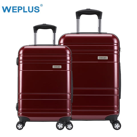 "2Pcs/Set 20 Inch+24"" Suitcases Pc Rolling Luggage Suitcase With Wheels Trolley Tas Lock Hardside"
