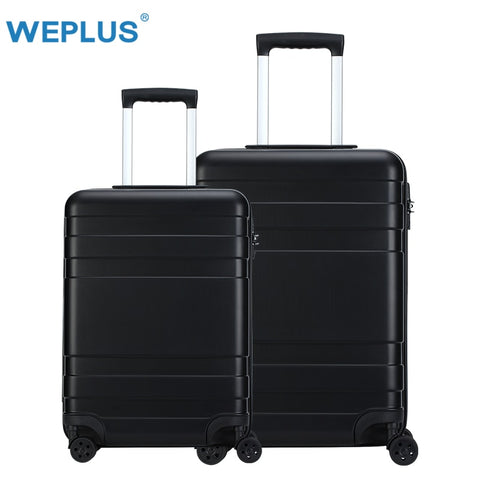 Weplus 2Pcs/Set Travel Suitcase Rolling Luggage Hardside Business Suitcase With Wheels Tsa Lock
