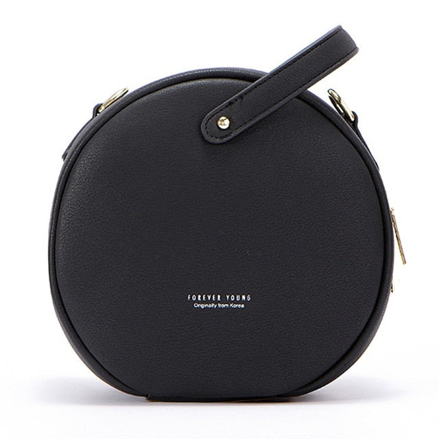 Hot Circular Design Fashion Women Shoulder Bag Leather Women'S Crossbody Messenger Bags Ladies