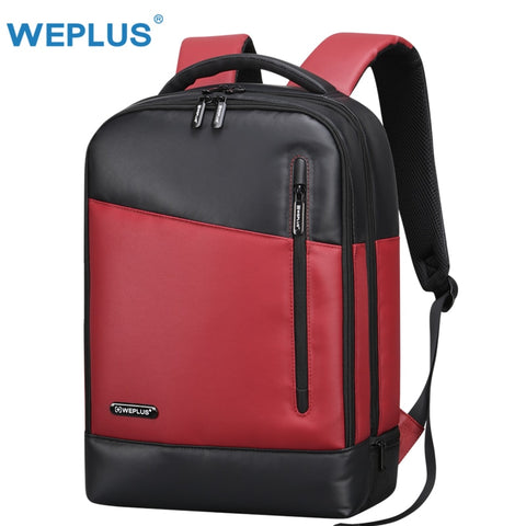 Weplus Backpack Leather Laptop Backpack Female Anti Theft Travel Bag School Shoulder Bag Bagpack
