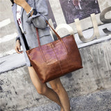 Luxury Crocodile Handbag Women Retro Leisure Large Shoulder Bag Female High Quality Causal Totes
