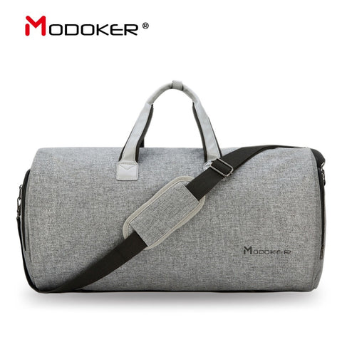 Modoker Travel Garment Bag With Shoulder Strap Duffel Bag Carry On Hanging Suitcase Clothing