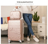 Hot 2Pcs/Set 14Inch Cosmetic Bag Hello Kitty 20/22/24/28 Inch Girl Trolley Case Abs+Pc Students