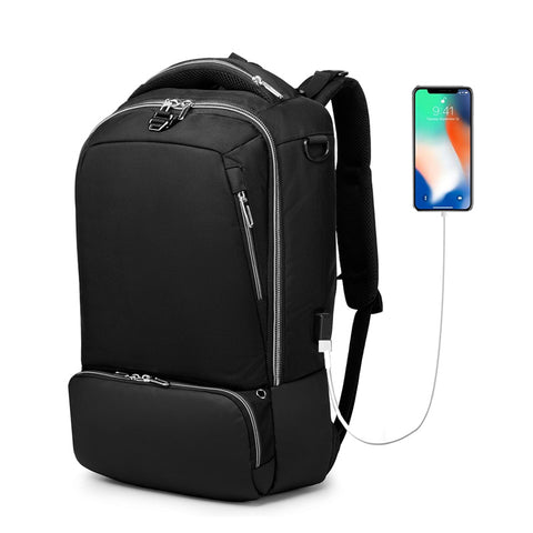 Cetiri Men'S Multifunction Backpack Usb Charging Anti Theft 15 .6 Inch Laptop Backpack For Teenager
