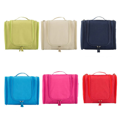 Portable Hanging Toiletry Organizer Bag Foldable Large Capacity Cosmetic Makeup Case Travel