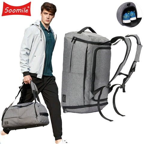 35L Multifunction Men Travel Bag Large Capacity Travel Duffel Bags Big Luggage Weekend Casual Cabin
