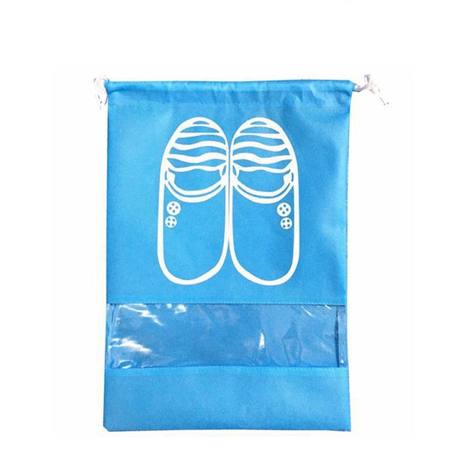 2 Sizes Waterproof Shoes Bags Pouch Women Travel Bag Portable Drawstring Bag Packing Organizer