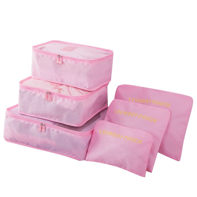 6Pcs/Set Travel Case Clothes Tidy Storage Bag Box Luggage Suitcase Pouch Bra Cosmetics Underwear