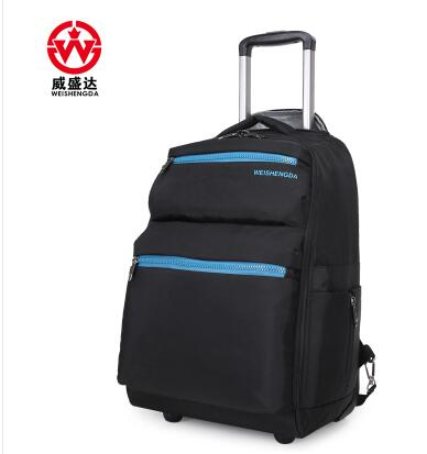 20 Inch Waterproof Travel Trolley Backpack Large Capacity Luggage Wheeled Backpacks Carry-On Bags