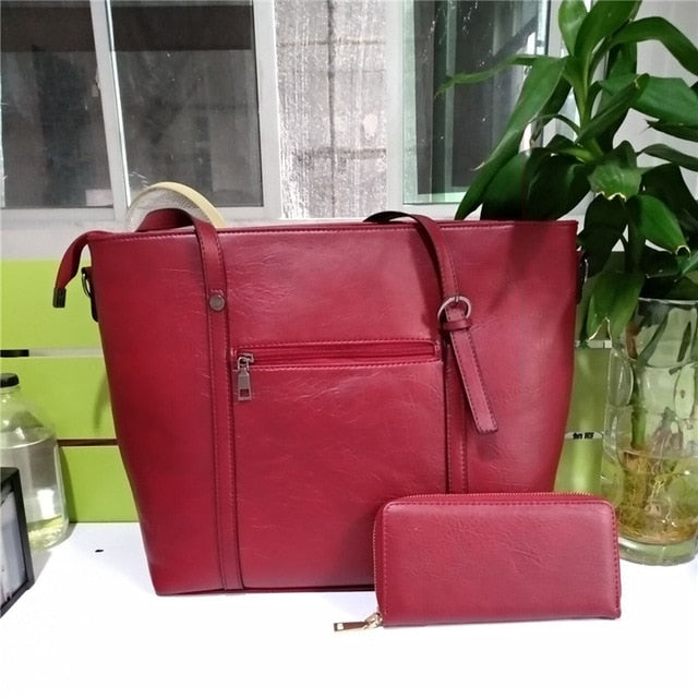 Ladies Shoulder Bag Two-Piece Handbag