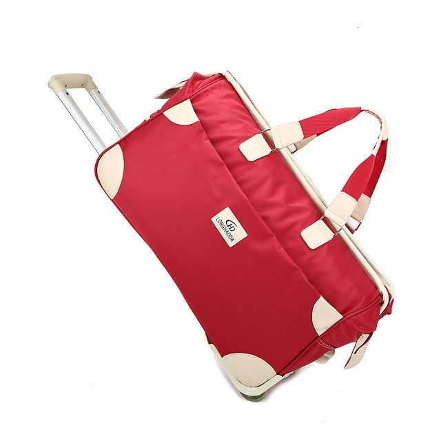 New Waterproof Travel Bag Men Women Trolley Bag Large Capacity Oxford Duffle Bag Unisex Carry On