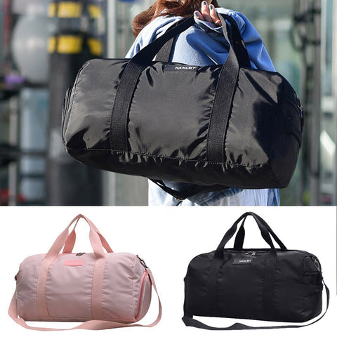 Women Gym Bags Portable Storage Outdoor Training Travel Handbag Large Capacity