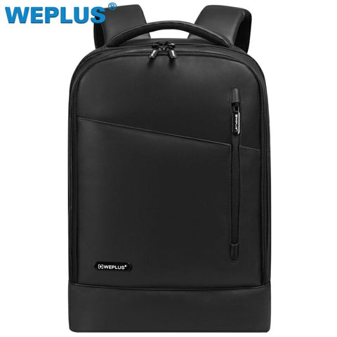 Weplus Backpack Leather 15.6 Men Backpack Inch Laptop Backpack Female Anti Theft Travel Bag
