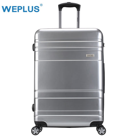 Weplus Suitcase Bussiness Rolling Luggage Travel Suitcase With Wheels Tsa Lock Spinner Custom Rod