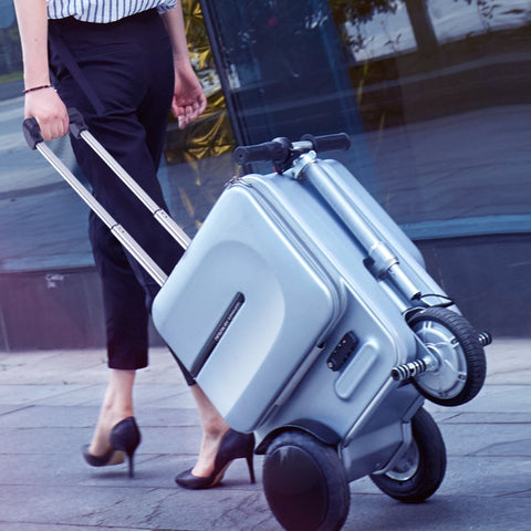 Luggage Case Electric Car,Can Be Riding Suitcase,Smart Travel Trolley Case,Multi-Functional
