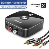 Ugreen Bluetooth Receiver 4.2 2Rca 3.5Mm Jack Aux Audio Receiver Wireless Adapter Music For