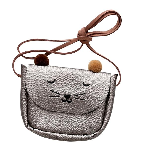 Mini Shoulder Bag Cute Cat Ear Messenger Bag Women Kids All-Match Key Coin Purse Cartoon Lovely