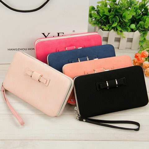 2019 Women Wallets Purses Wallet Brand Credit Card Holder Clutch Coin Purse Cellphone Pocket