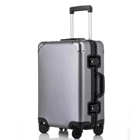 20'24'26'29'Inch Retro Aluminum Suitcase Carry On Cabin Tsa Scratch Resistant Luggage Metal Trolley