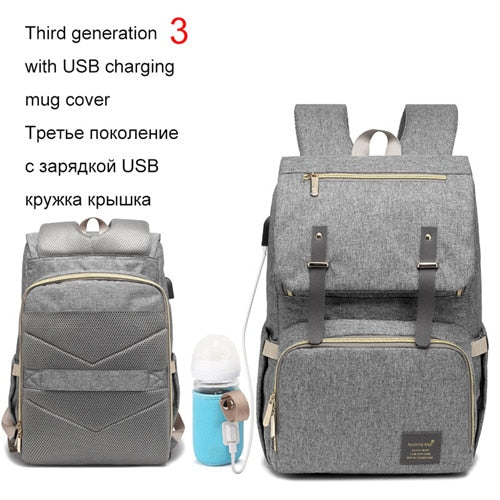 Fashion Large Capacity Baby Nappy Bag Diaper Bag Mummy Travel Backpack Women Nursing Bags For Mom