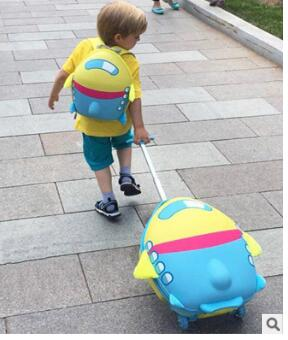 Wheeled Suitcase For Girls Cartoon Suitcase For Kids Children Travel Trolley Suitcase For Boys