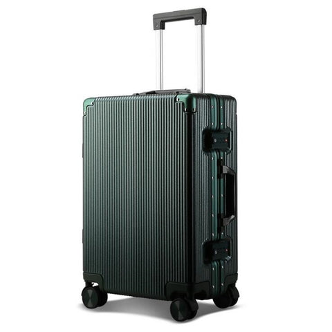 "20"" 24""100% Aluminum Luggage Hardside Rolling Trolley Luggage Travel Suitcase Carry On Luggage"