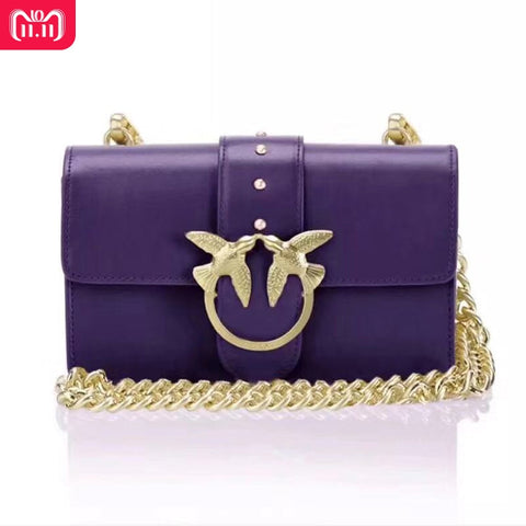 2018 Winter Newest Fashion Swallow Lock Messenger Bag Luxury Famous Brand Style Bags Women