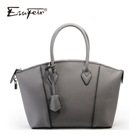 Esufeir New Genuine Leather Women Handbags Vintage Shoulder Bag Crossbody Bag Fashion Solid