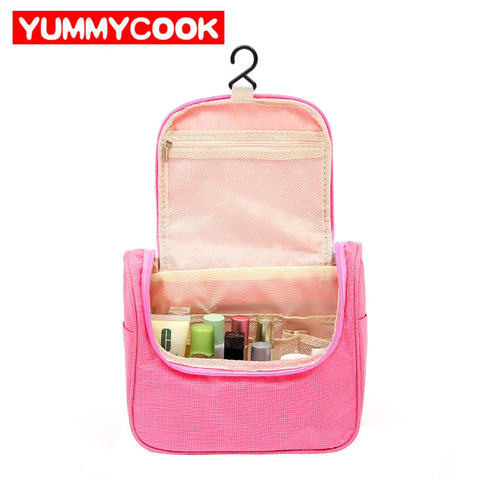 Hanging Folding Toiletry Storage Bags Portable Travel Oxford Mesh Waterproof Organizer Cosmetic