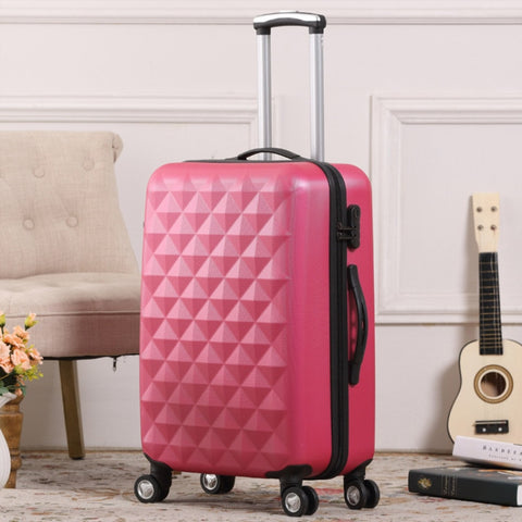 "Diamond Grain Suitcase,Abs Trolley Case,24""/28""Universal Wheel Luggage,20 Inch Men And Women"