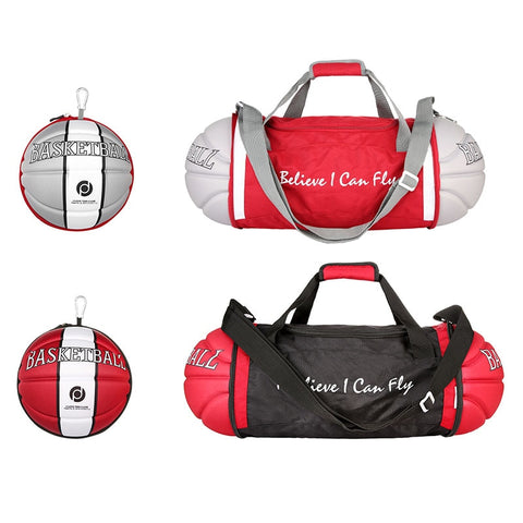 Unisex Basketball Shape Gym Duffel Bag For Home Outdoor Sport Travel Vacation B2Cshop