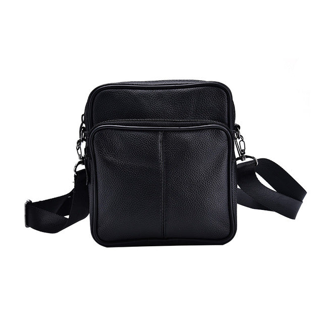 Business Men'S Genuine Leather Messenger Bag Large Capacity Real Leather Shoulder Bags Casual
