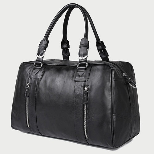 Westal Large Capacity Men Travel Bags Genuine Leather Travel Duffle Bags Casual Suitcase Big
