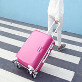 "14""20""22""24"" Inch Carry-On Suitcase With Wheels Girl And Toddler Pink Luggage Travel Bag Trolley"