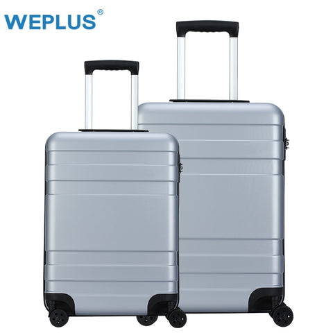 Weplus 2 Pcs/Set Rolling Luggage Colorful Travel Suitcase Carry On Spinner Wheels Tsa Lock