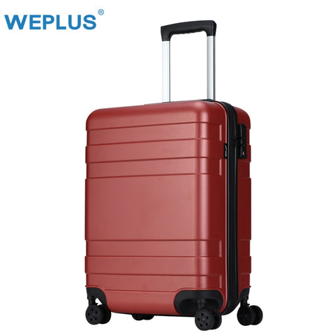 "Weplus Pc Suitcase Carry On Spinner Wheel Travel Vacation Luggage 20""24"" Anti-Scratch/Mute Wheels"