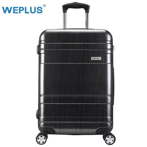 Weplus Suitcase Rolling Luggage Colourful Travel Suitcase With Wheels Tsa Lock Spinner Custom Rod