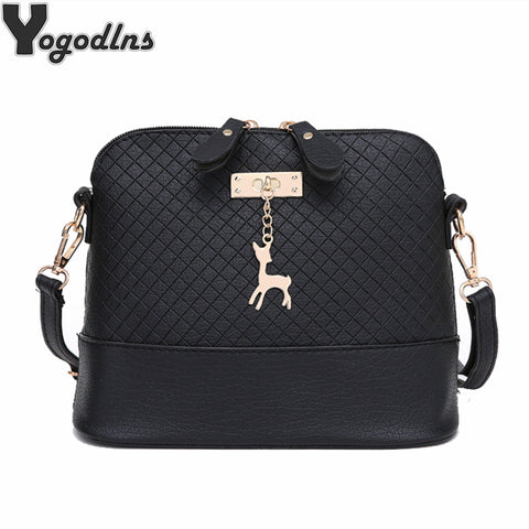 Hot Sale!2019 Women Messenger Bags Fashion Mini Bag With Deer Toy Shell Shape Bag Women Shoulder