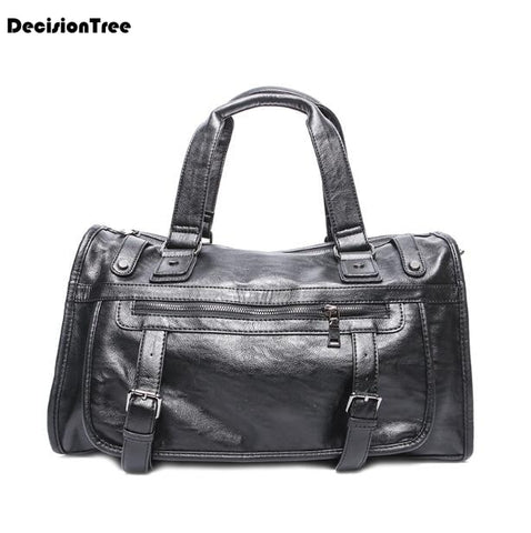New Fashion Retro Genuine Leather Male Shoulder Bag Carry On Luggage Bags Casual Portable