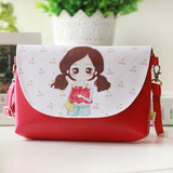 2018 Kids Shoulder Bags Children Girls Messenger Bag Cartoon Printing Princess Handbag Mini Pu