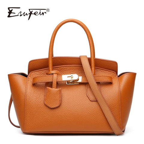 Esufeir 100% Genuine Leather Women Handbag Brand Fashion Female Shoulder Bag Crossbody Bag For