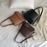 Women Wild Messenger Bag Shoulder Bag Button Handbag Bucket Bag