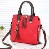 Vintage Pu Leather Ladies Handbags Women Messenger Bags Totestassel Designer Crossbody Shoulder Bag