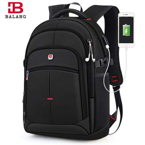 Balang Brand 2019 New Men'S Casual Backpacks Waterproof 15.6 Inch Laptop Backpack Usb Large