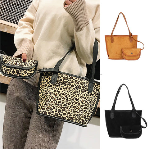 Women Single Shoulder Diagonal Letter Big Bag Retro Handbag