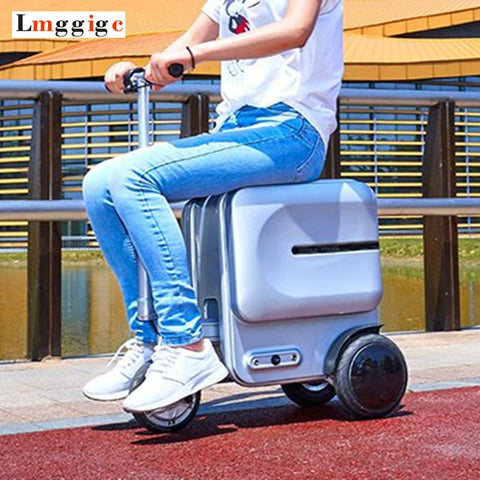 Electric Riding Travel Rolling Luggage Bag,Intelligent Wheel Suitcase,Rideable Trolley Case