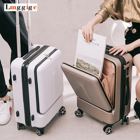 "20""24""Inch Women Rolling Luggage Travel Suitcase Case With Laptop Bag,Men Universal Wheel Trolley"
